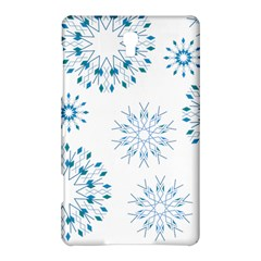 Blue Winter Snowflakes Star Triangle Samsung Galaxy Tab S (8 4 ) Hardshell Case  by Mariart