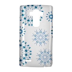 Blue Winter Snowflakes Star Triangle Lg G4 Hardshell Case by Mariart