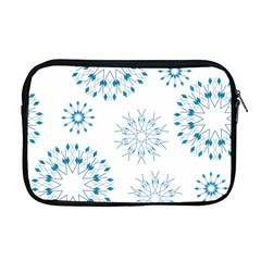 Blue Winter Snowflakes Star Triangle Apple Macbook Pro 17  Zipper Case by Mariart