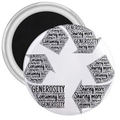 Recycling Generosity Consumption 3  Magnets by Nexatart