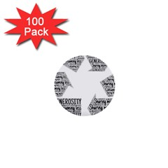 Recycling Generosity Consumption 1  Mini Buttons (100 Pack)  by Nexatart