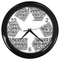 Recycling Generosity Consumption Wall Clocks (black) by Nexatart