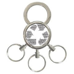 Recycling Generosity Consumption 3 Ring Key Chains