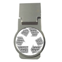 Recycling Generosity Consumption Money Clips (round)