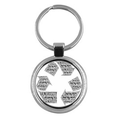 Recycling Generosity Consumption Key Chains (round)