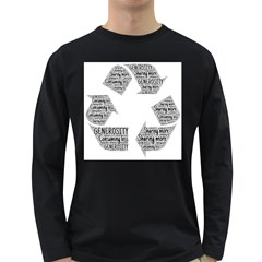 Recycling Generosity Consumption Long Sleeve Dark T Shirts