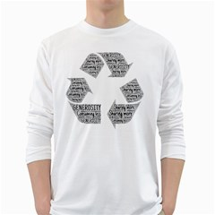 Recycling Generosity Consumption White Long Sleeve T Shirts