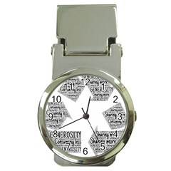Recycling Generosity Consumption Money Clip Watches