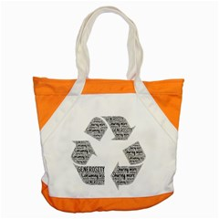 Recycling Generosity Consumption Accent Tote Bag by Nexatart