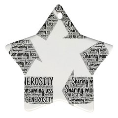 Recycling Generosity Consumption Star Ornament (two Sides)