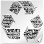 Recycling Generosity Consumption Canvas 16  x 16   16 x16 Canvas - 1