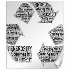 Recycling Generosity Consumption Canvas 20  X 24