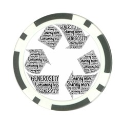 Recycling Generosity Consumption Poker Chip Card Guard