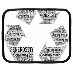Recycling Generosity Consumption Netbook Case (xxl)