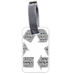 Recycling Generosity Consumption Luggage Tags (one Side)