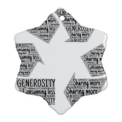 Recycling Generosity Consumption Ornament (snowflake)
