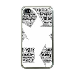 Recycling Generosity Consumption Apple Iphone 4 Case (clear)