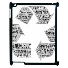 Recycling Generosity Consumption Apple Ipad 2 Case (black) by Nexatart