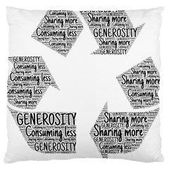 Recycling Generosity Consumption Large Cushion Case (two Sides)
