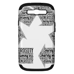 Recycling Generosity Consumption Samsung Galaxy S Iii Hardshell Case (pc+silicone)