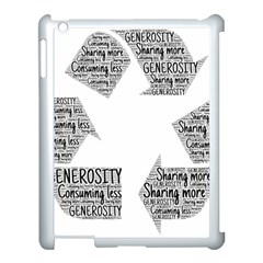 Recycling Generosity Consumption Apple Ipad 3/4 Case (white) by Nexatart