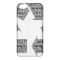 Recycling Generosity Consumption Apple Iphone 5c Hardshell Case by Nexatart