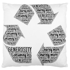 Recycling Generosity Consumption Standard Flano Cushion Case (two Sides) by Nexatart