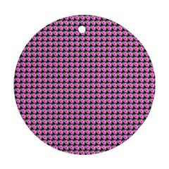 Pattern Grid Background Ornament (round)