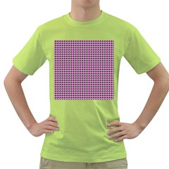 Pattern Grid Background Green T Shirt