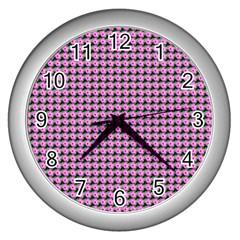 Pattern Grid Background Wall Clocks (silver)