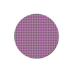 Pattern Grid Background Magnet 3  (round) by Nexatart