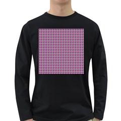 Pattern Grid Background Long Sleeve Dark T Shirts