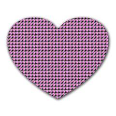 Pattern Grid Background Heart Mousepads