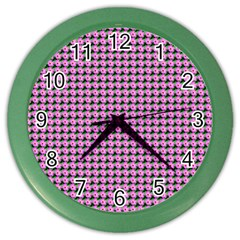 Pattern Grid Background Color Wall Clocks