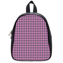 Pattern Grid Background School Bag (small) by Nexatart