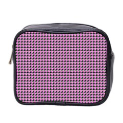 Pattern Grid Background Mini Toiletries Bag 2 Side