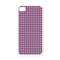 Pattern Grid Background Apple Iphone 4 Case (white)