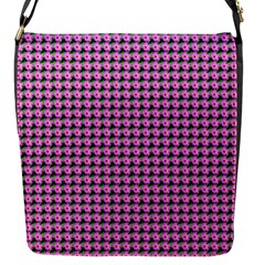 Pattern Grid Background Flap Messenger Bag (s)