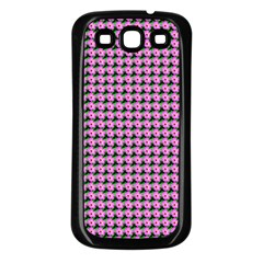 Pattern Grid Background Samsung Galaxy S3 Back Case (black)