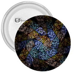 Multi Color Tile Twirl Octagon 3  Buttons by Nexatart