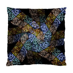 Multi Color Tile Twirl Octagon Standard Cushion Case (one Side)