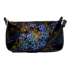 Multi Color Tile Twirl Octagon Shoulder Clutch Bags by Nexatart