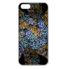 Multi Color Tile Twirl Octagon Apple Seamless Iphone 5 Case (clear)