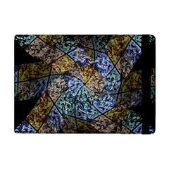 Multi Color Tile Twirl Octagon Apple Ipad Mini Flip Case