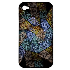 Multi Color Tile Twirl Octagon Apple Iphone 4/4s Hardshell Case (pc+silicone)