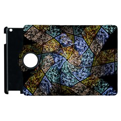 Multi Color Tile Twirl Octagon Apple Ipad 2 Flip 360 Case