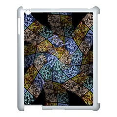 Multi Color Tile Twirl Octagon Apple Ipad 3/4 Case (white) by Nexatart