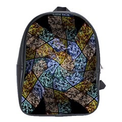 Multi Color Tile Twirl Octagon School Bag (xl)