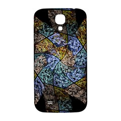 Multi Color Tile Twirl Octagon Samsung Galaxy S4 I9500/i9505  Hardshell Back Case