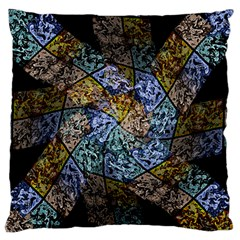 Multi Color Tile Twirl Octagon Large Flano Cushion Case (two Sides)